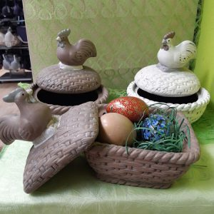 Eierkorb mit Deckel